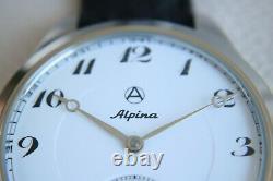 ALPINA Vintage early 1900 Enameled SWISS movement SKELETON New Cased Men`s Watch