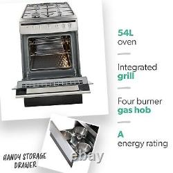 Amica 608GG5MSXX 60cm Single Oven Gas Cooker Stainless Steel
