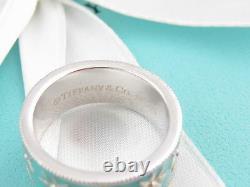 Authentic New Tiffany & Co Silver Blue Daisy Enamel Ring Size 5 Box Pouch Ribbon