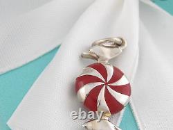 Authentic Rare New Tiffany & Co Silver Enamel Bon Bon Charm
