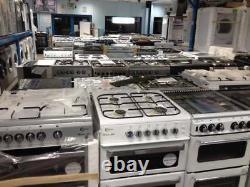 BELLING FSDF608D 60 cm Dual Fuel Cooker Silver Black LPG Convertible