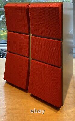 Bang & Olufsen Beovox CX100 Aluminium Speakers In B&O Grey Enamel With New Cloth
