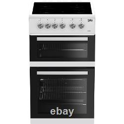 Beko 50cm Double Oven Electric Cooker with Ceramic Hob White