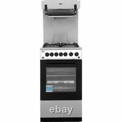 Beko KA52NES A Gas Cooker with Gas Hob 50cm Free Standing Silver New