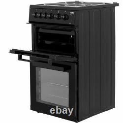 Beko KD533AK Free Standing A Electric Cooker with Solid Plate Hob 50cm Black