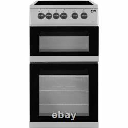 Beko KDC5422AS Free Standing A Electric Cooker with Ceramic Hob 50cm Silver New