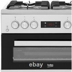 Beko KDG653S A+/A Gas Cooker with Gas Hob 60cm Free Standing Silver New