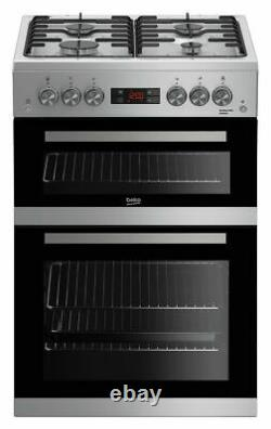 Beko KDG653S Free Standing 60cm 4 Hob Double Gas Cooker Silver