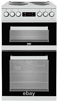 Beko KDV555AS Free Standing 50cm 4 Hob Double Electric Cooker Silver
