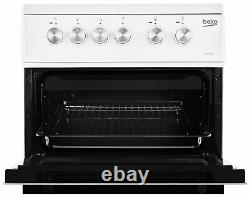 Beko KDVC563AW Free Standing 50cm Silver Dial Double Electric Cooker White