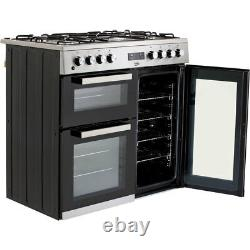 Beko KDVF90X 90cm 5 Burners A/A Dual Fuel Range Cooker Stainless Steel New
