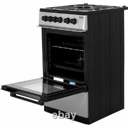 Beko KS530S Free Standing A Electric Cooker with Solid Plate Hob 50cm Silver