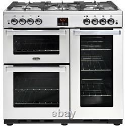 Belling Cookcentre90GProf 90cm 5 Burners B/A Gas Range Cooker Stainless Steel