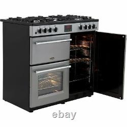 Belling Farmhouse90G 90cm 5 Burners B/A Gas Range Cooker Silver New from AO