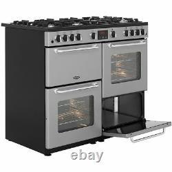 Belling SANDRINGHAM100LPG 100cm 7 Burners A/A Gas Range Cooker Silver New from