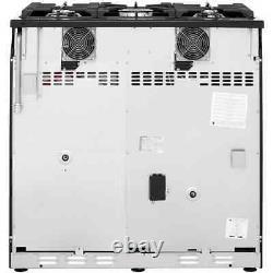 Belling SANDRINGHAM90DFT 90cm 5 Burners A/A Dual Fuel Range Cooker Silver New