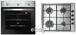 Candy COGHP60X 4 Burner Gas Hob with Single 60cm Multifunction Oven Pack