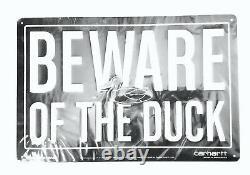 Carhartt WIP Heritage BEWARE OF THE DUCK Enamel Display Sign, Black/Silver