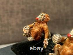 Deakin & Francis Sterling Silver, Diamond & Enamel Cheeky Monkey Cufflinks