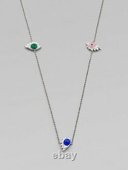 Delfina Delettrez Enamel Eye Silver Necklace