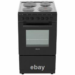 Electra SE50S Free Standing A Electric Cooker with Solid Plate Hob 50cm Silver