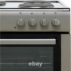 Electra SE60S Free Standing A Electric Cooker with Solid Plate Hob 60cm Silver