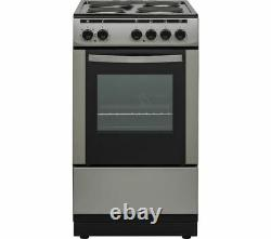 Essentials Freestanding Electric Cooker With Grill Oven 50cm Inox Black CFSESV18