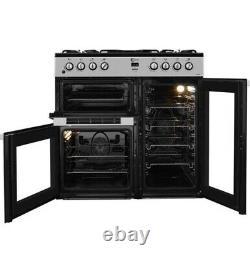 FLAVEL MLN9FRK 90 cm Dual Fuel Range Cooker Black