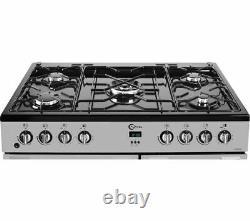 FLAVEL MLN9FRS 90 cm Dual Fuel Range Cooker Silver & Black Currys