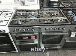 Flavel MLN10FRS 100cm Dual Fuel Range Cooker 7 Burners Freestanding Silver