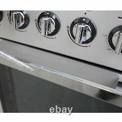 Flavel MLN10FRS 100cm Dual Fuel Range Cooker 7 Burners Freestanding Silver #1961
