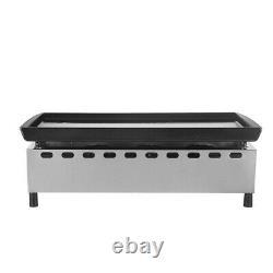 Gas CE Plancha BBQ 3 Burner LPG outdoor Grill Steel Enameled cast iron UK stock