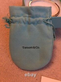 Genuine Tiffany Bracelet Solid Silver With Black Enamel Rare-Box And Care Card