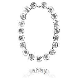 Georg Jensen Silver Necklace DAISY with White Enamel 18 mm