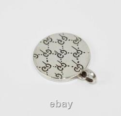 Gucci Red Enamel Round Silver Pendant Charm with EGG UFO Motif 458037 8524
