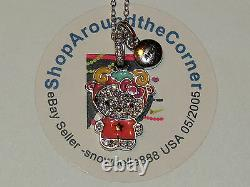 HELLO KITTY ZODIAC ARIES Sterling Silver Pave Crystal Enamel Pendant Necklace