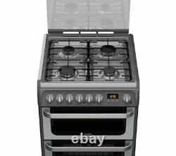 HOTPOINT HUD61G Dual Fuel Cooker Graphite Currys