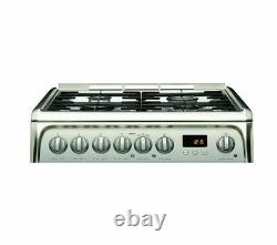 HOTPOINT HUD61X S Dual Fuel Cooker Stainless Steel (SBUK) Currys