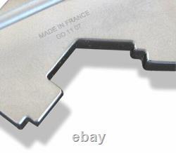 Hermes Black Lacquered Enamel & Palladium STREET Belt Buckle H 32mm, New