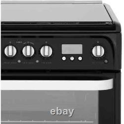 Hotpoint HUD61GS Free Standing A/A Dual Fuel Cooker with Gas Hob 60cm Graphite