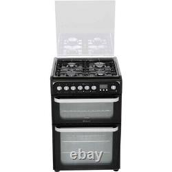 Hotpoint HUD61XS Free Standing A/A Dual Fuel Cooker with Gas Hob 60cm Stainless