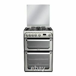 Hotpoint HUG61X Ultima 60cm Double Oven Gas Cooker Stainless Steel