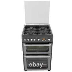 Hotpoint HUG61X Ultima A+/A Gas Cooker with Gas Hob 60cm Free Standing