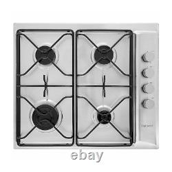 Hotpoint PAN642IXH 58cm Four Burner Gas Hob Stainless Steel