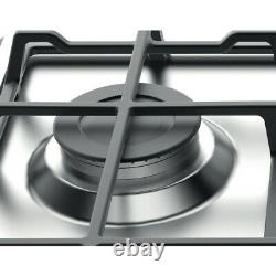 Hotpoint PCN641IXH 60cm 4 Burner Built-in Gas Hob with Cast Iron Pan Supports