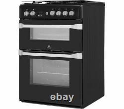 INDESIT ID60G2K 60 cm Gas Cooker Black Currys