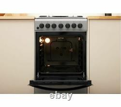 INDESIT IS5G4PHSS 50 cm Duel Fuel Cooker Silver Currys