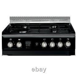 Indesit Freestanding ID60G2K 60cm Gas Cooker Black