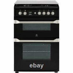 Indesit ID60G2K Advance A+/A Gas Cooker with Gas Hob 60cm Free Standing Black