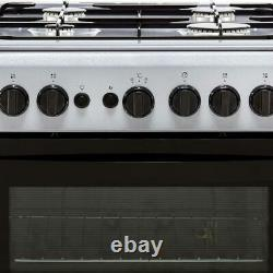 Indesit IS5G1PMSS Cloe A Gas Cooker with Gas Hob 50cm Free Standing Silver New